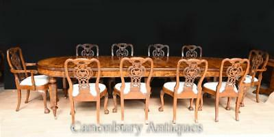 Victorian Dining Table and Chairs Set - Walnut George II Chairs Suite
