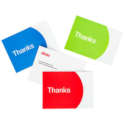 "NEW EDITION 3-Color, eBay-Branded 5.5"" x 4"" Thank You Postcards Multi-Pack"