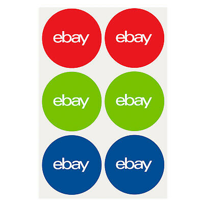 "NEW EDITION 3-Color, Round eBay-Branded Sticker Multi-Pack 3"" x 3"""
