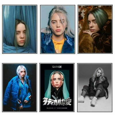 Billie Eilish Poster Singer Star Poster Wall Art Picture FAST SHIPPING