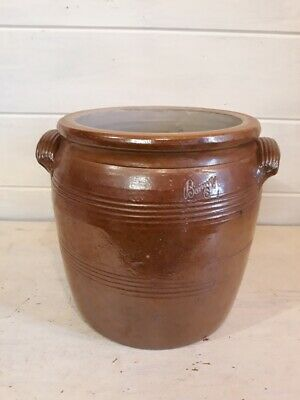 Ancien pot à graisse vernissé Poterie - Vintage French Glazed Pottery