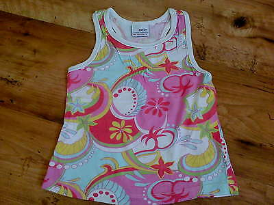 Girls Bright Surfy Vest Top with Sport back (3 Years) - Good Condition NEXT