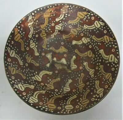 Rare ANCIENT NAZCA (Peru) PRE-COLUMBIAN Painted Bowl w/ Snails 200 BCE - 600 CE