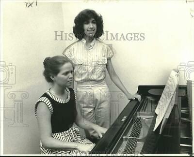 1979 Press Photo Pianist Pamela Legendre and dancer Christine Maunoir