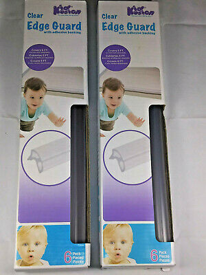 (2) Baby Edge Guard by Kid Kusion Clear with Adhesive Backing, Brand New in Box
