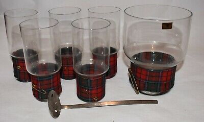 Carl Auböck III | 5 Tartan Glasses | Ice Bucket | Rare