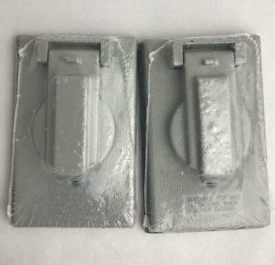 * 2 Sigma Outlet Box Covers Gray 1-Gang Single Receptacle All-Weather Verical