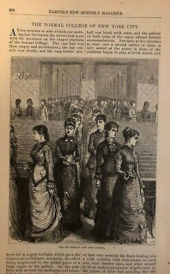 1878 Normal College of New York City illustrated