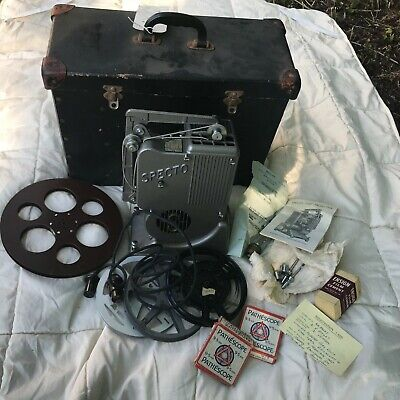 Vintage Working Specto 500 Projector Type Xd With Box, Instructions Reels, Bulb