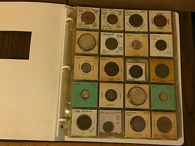 Huge Lot of Foreign Coins with display book