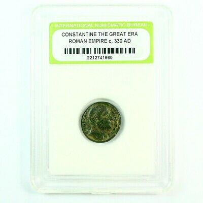 Slabbed Ancient Roman Constantine the Great Coin c330 AD Exact Coin Shown rm4401