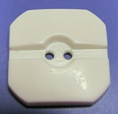 """Vintage Plastic Colt Firearms Button #13 White Grooved Hard to Find 7/8"""""""