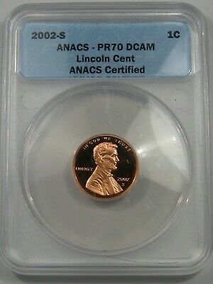 Perfect Proof 2002-s US Lincoln Memorial Penny. ANACS PR70 DCAM.  #26