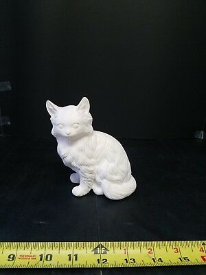 Persian Cat Ready to Paint, Unpainted, You Paint Ceramic Bisque