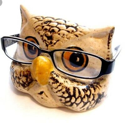 Owl Eye Glasses Holder Ready to Paint, Unpainted, You Paint Ceramic Bisque
