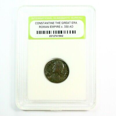 Slabbed Ancient Roman Constantine the Great Coin c330 AD Exact Coin Shown rm4394