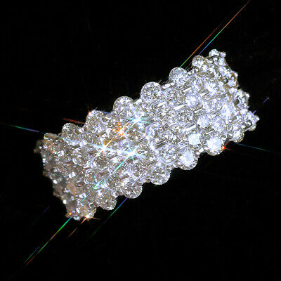 2Ct 100% Natural Diamond 10K White Gold Cluster Ring EFFECT 5Ct RWG193-1