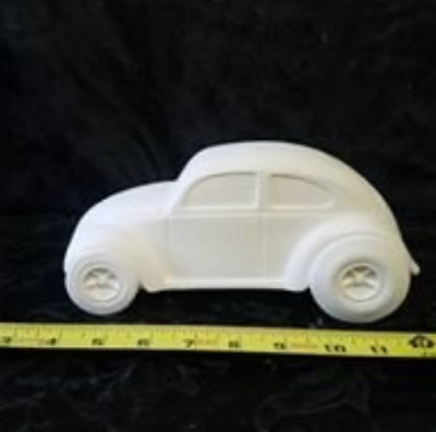 VW Volkswagen Bug Ready to Paint, Unpainted, You Paint Ceramic Bisque