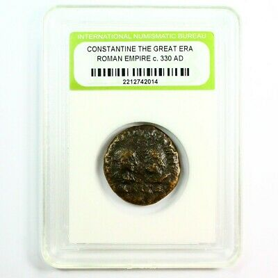 Slabbed Ancient Roman Constantine the Great Coin c330 AD Exact Coin Shown rm4359