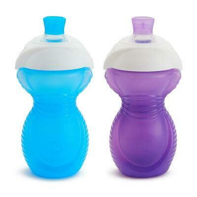 Munchkin Bite Proof Sippycup, 2-Pack - Purple/Blue