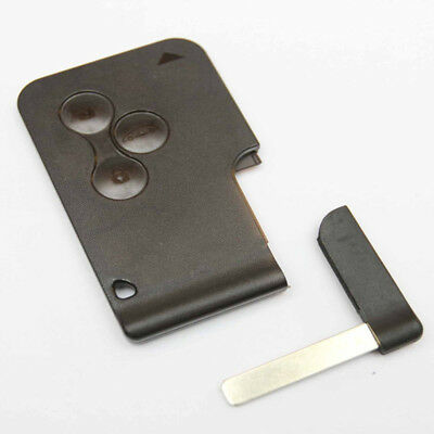 Replacement fits Renault Megane Scenic 3 button Key Card Shell Case &Blank Blade