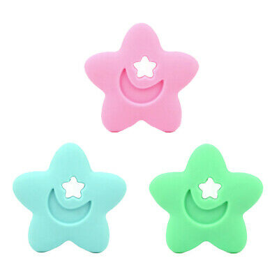 Silicone Teether Baby Teething Toys Bead Chew Necklace Soother Pendant Flower