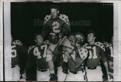 1955 Press Photo All-Star's Tad Weed (Ohio St.), MVP of game vs Cleveland Browns