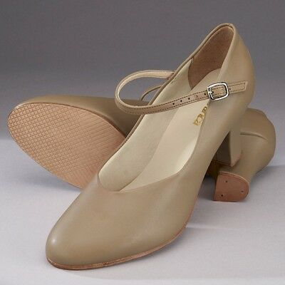 "So Danca CH52 Tan Character Stage Dance Shoes (2"" Heel) - UK 3 4 5 6 7 8"