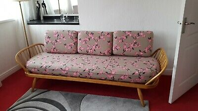 Ercol Studio Couch Excellent Condition owned since 1962 has new cushions