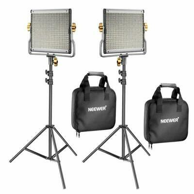 Neewer 2 Pack Dimmable Bi-Color 480 Led Video Light And Stand Lighting Kit Inclu