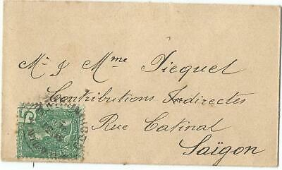 Indochine 5C Solo Petite Lettre Small Cover Thaving Cochinchine To Saigon