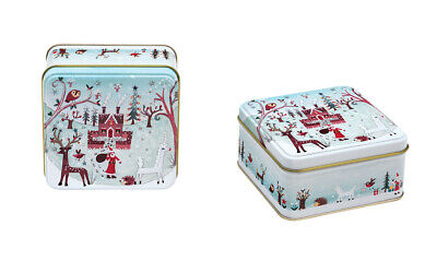 Lucy Loveheart - Short Square 108 x 108 x 52mm  Christmas Tin