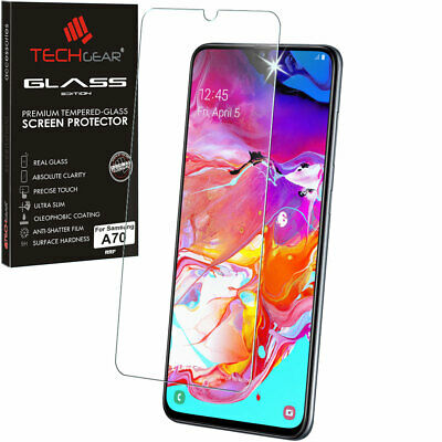 Genuine TECHGEAR TEMPERED GLASS Screen Protector for Samsung Galaxy A70