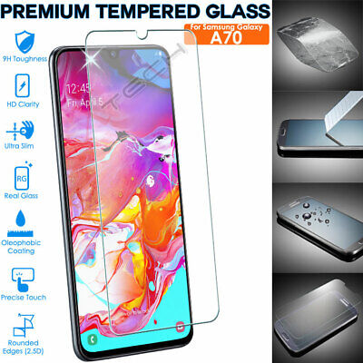 Genuine TEMPERED GLASS Screen Protector Cover for Samsung Galaxy A70 (SM-A705F)