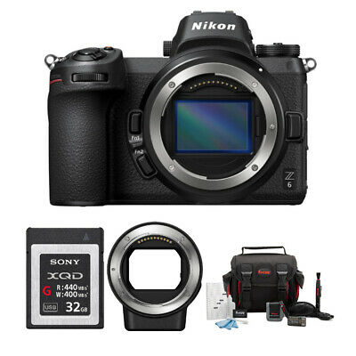 Nikon Z6 Mirrorless Digital Camera (Body Only) with XQD Accessory Bundle