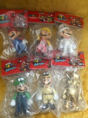 "Super Mario 5"" Supersize Action Figures - Super Mario Odyssey Characters NEW"