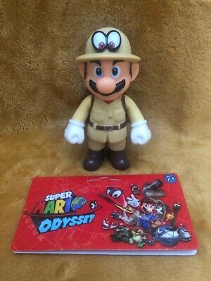 "Super Mario 5"" Action Figure - Super Mario Odyssey Explorer Outfit -NEW & SEALED"