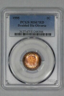 1995 Lincoln Memorial Cent 1C Pcgs Ms 67 Rd Doubled Die Obv - Amazing Color (306