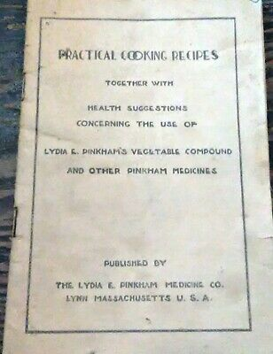 Antique Lydia Pinkham Cookbook Blood Medicine Quack Medicine