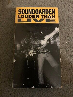 Soundgarden - Louder Than Live (VHS, 1990) great condition, plays perfect