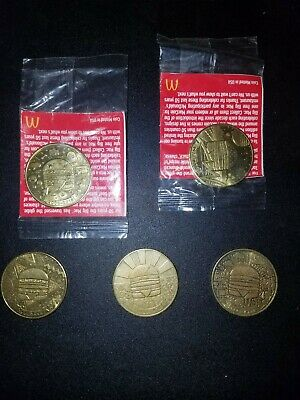 """Mc Donald/'s Big Mac /""""50th Golden Anniversary/"""" Coins Complete Unsealed Set"""
