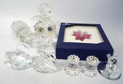 Collection Of CRYSTAL FIGURINES Including SWAROVSKI And PRINCESS HOUSE - G13