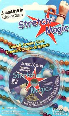 Stretch Magic 0.5 mm Elastic Beading & Jewelry Cord - 10 Meters - Size .5mm
