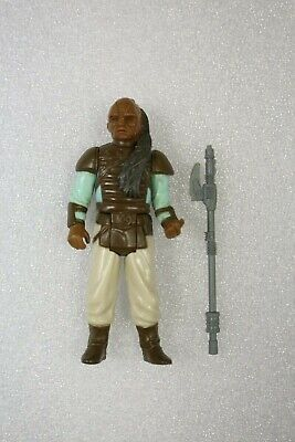 Vintage Star Wars Action Figure Loose Weequay Skiff Guard Complete w/ Staff