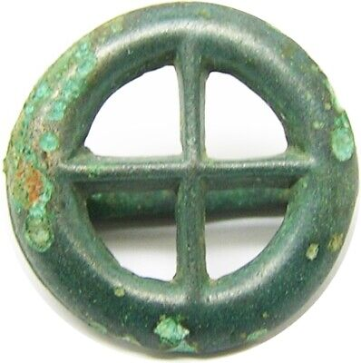 650 - 100 BC Late Hallstatt - Iron Age Celtic solar sun wheel belt fitting Druid