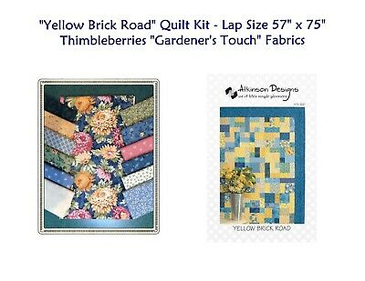"YELLOW BRICK ROAD Quilt Kit with Thimbleberries ""GARDENER'S TOUCH""  Fabrics"