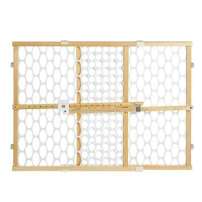 North States Quick-Fit Oval Mesh Gate - Natural/White