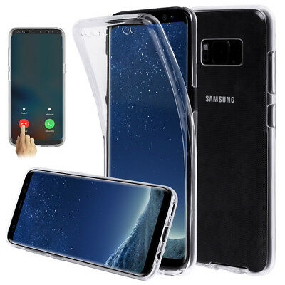 For Samsung Galaxy S9/S9 Plus 360° TPU Soft Clear Gel Front and Back Case Cover