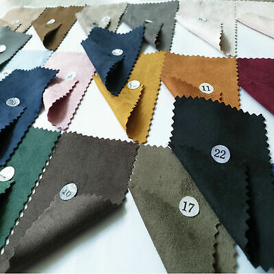 "Soft Double Sided 4-Way Stretch Faux Suede Fabric Cloth Apparels Upholstery 58""W"