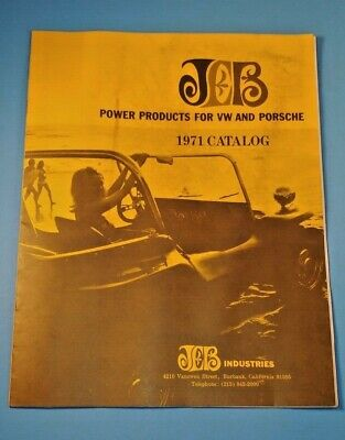 JEB  Industries Power Product for VW and Porsche 1971 Catalog Burbank California